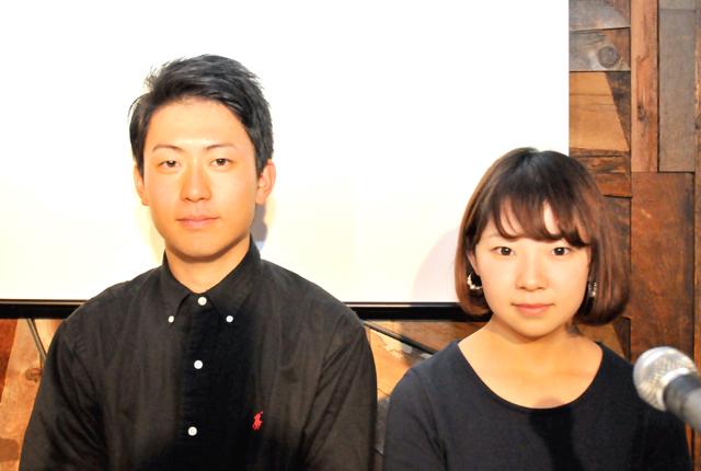 司会の2人で左が西さん、右が内田さん