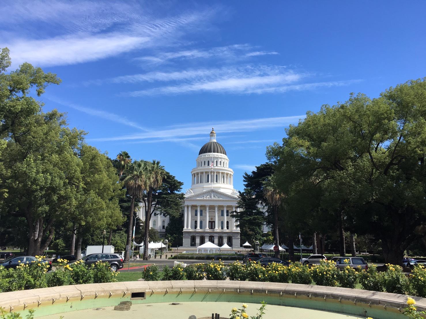 (こちらはカリフォルニア州の議事堂です!)