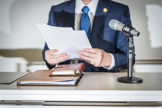 弁護士の記者会見イメージ