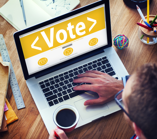 Digital Online Vote Democracy Politcs Election Government Concep