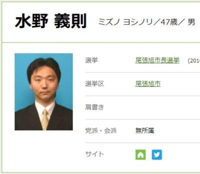 週刊誌に女性問題を報じられ、市長を辞職へ|水野義則(みずの よしのり)氏の経歴・政策は?