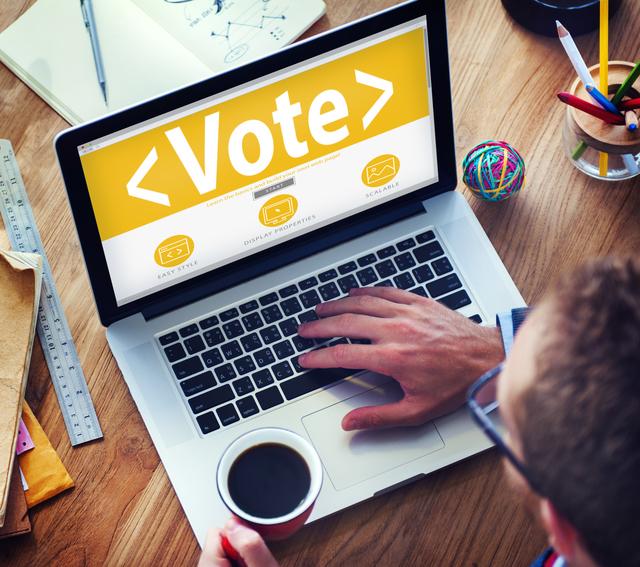 Digital Online Vote Democracy Politcs Election Government Concept