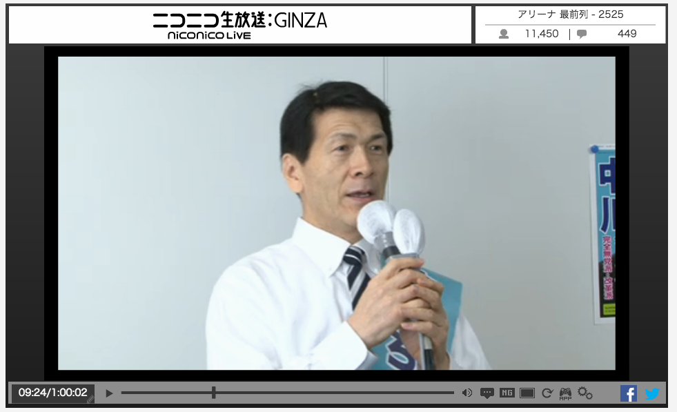 「江戸城を復元したい」都知事選に出馬する中川暢三氏の学歴・経歴は?