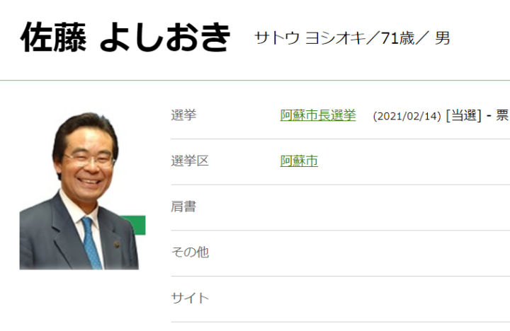 選挙 宇城 市長