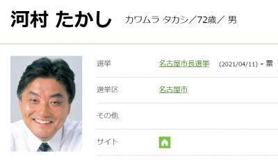 名古屋市長選に立候補。現職 河村たかし氏(かわむら・たかし)氏の経歴・政策は?